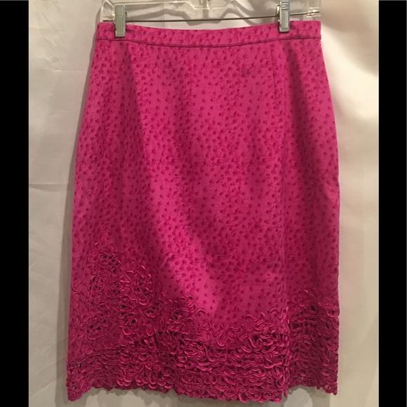 Vera Cristina Dresses & Skirts - Vera Cristina Hot Pink Silk Skirt Sz 8